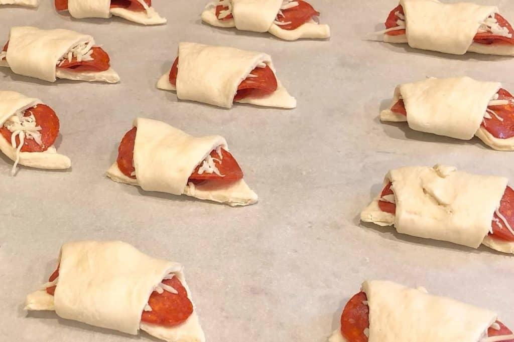 Game Night Pepperoni Pizza Rollups