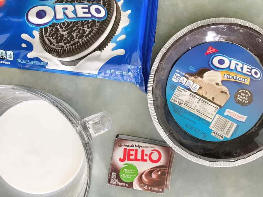 Chocolate Pudding Pie Ingredients
