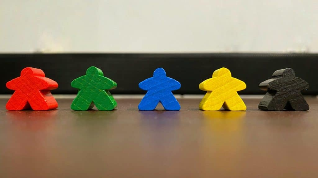 Different Colors Meeples