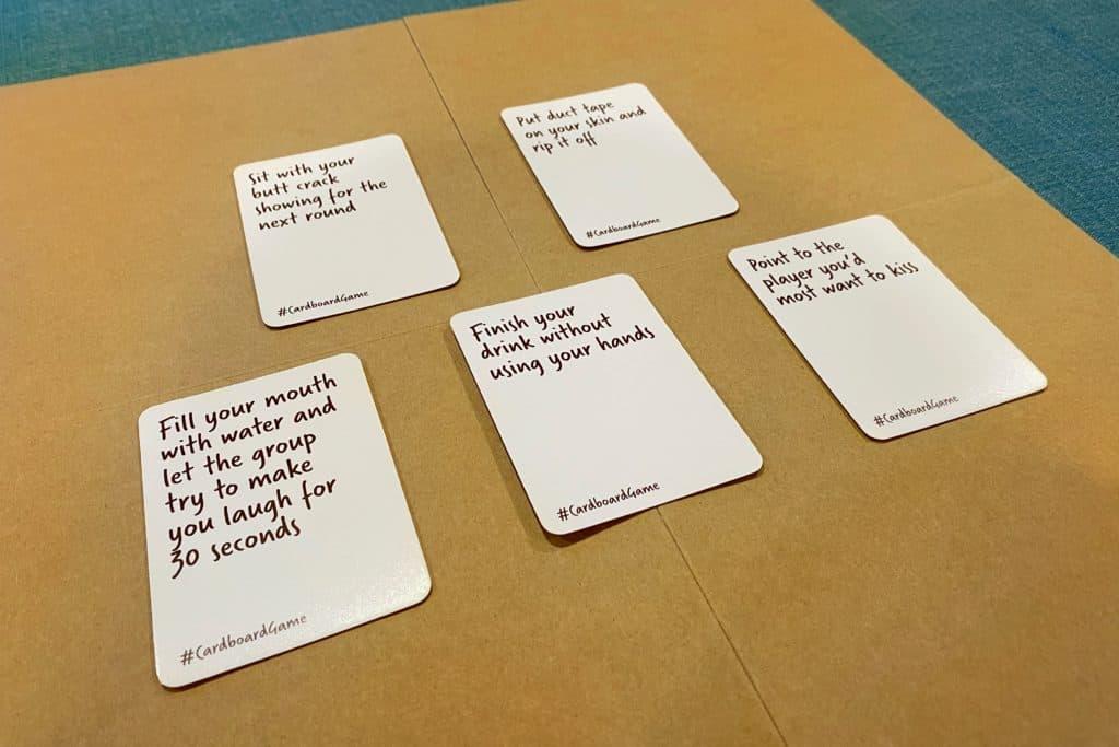 Cardboard Game Cards